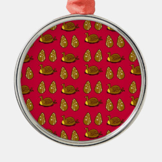 Chicken and the eggs christmas ornament