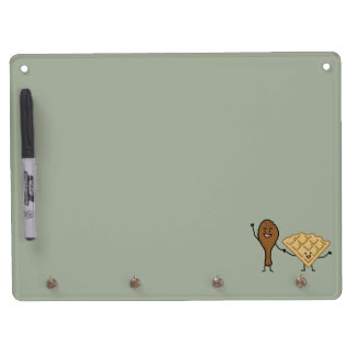 Chicken and Waffles American & Southern Cooking Dry Erase Board With Key Ring Holder