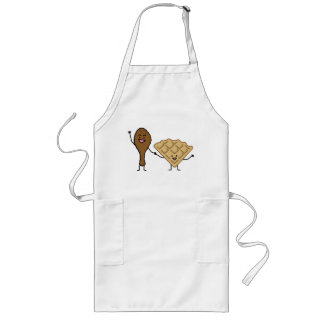 Chicken and Waffles American & Southern Cooking Long Apron