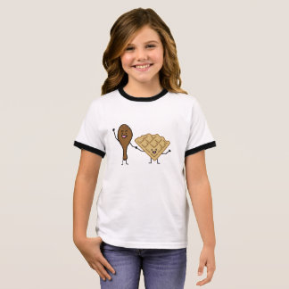 Chicken and Waffles American & Southern Cooking Ringer T-Shirt