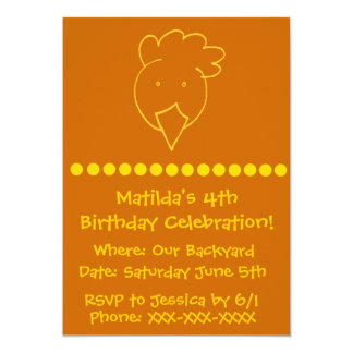 Chicken Backyard Birthday Party Card