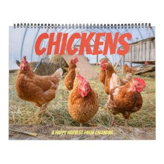 Chicken Calendar-Large Wall Calendar