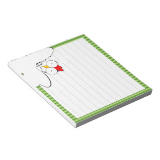Chicken cartoon illustration notepad