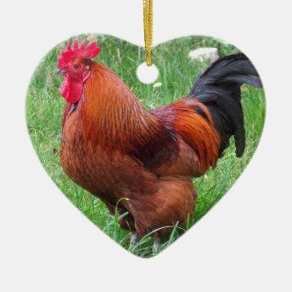 Chicken Ceramic Heart Decoration