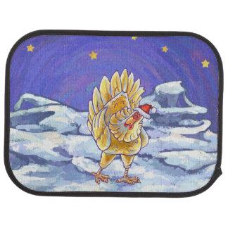 Chicken Christmas Floor Mat