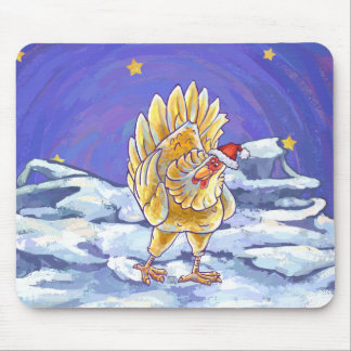 Chicken Christmas Mouse Pad