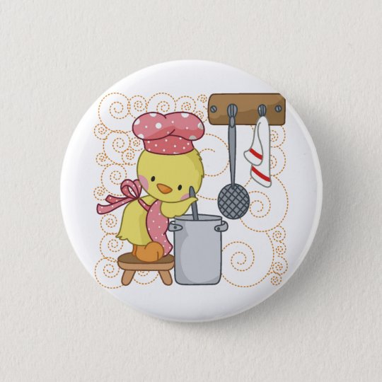 Chicken Cook 6 Cm Round Badge