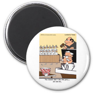 Chicken Courtroom Drama Funny Gifts & Tees 6 Cm Round Magnet