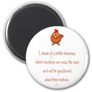Chicken Crossing Motives Magnet