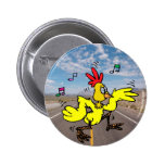 Chicken Crossing The Road Badges