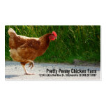 Chicken Crossing the Road Egg Farm Business Cards