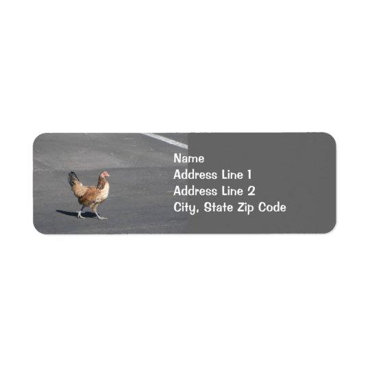 Chicken Crossing the Road Return Address Label
