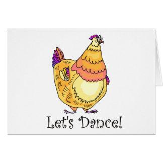 Chicken Dance Greeting Card