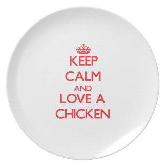Chicken Dinner Plates