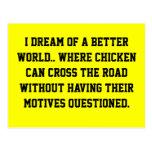 Chicken Dream Postcard