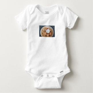 Chicken & eggs baby onesie