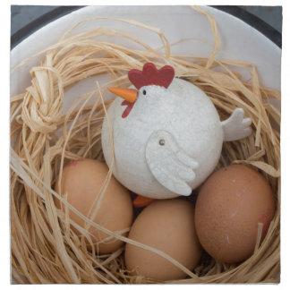 Chicken & eggs napkin