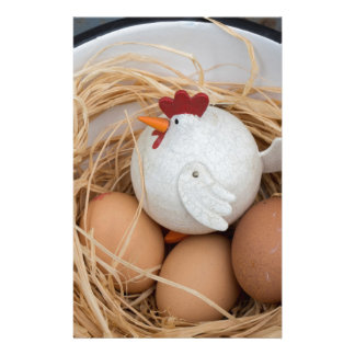 Chicken & eggs stationery