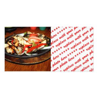 Chicken Fajitas Personalized Photo Card