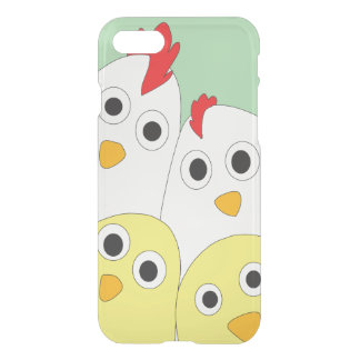 Chicken Family Green Background Clearly iPhone 8/7 Case