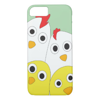 Chicken Family Green Background iPhone 8/7 Case