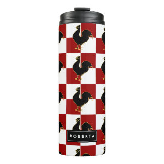 Chicken Farm Poultry Lover Rooster Pattern Thermal Tumbler