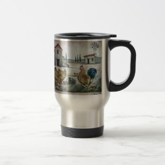 Chicken-Farm Scene Travel Mug