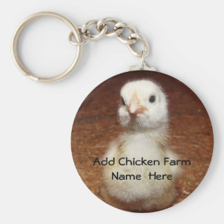 Chicken Farmer Keychain with Baby Chick
