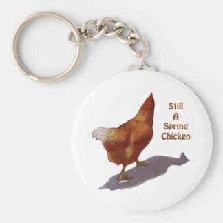 Chicken: Getting Older: Spring Chicken Keychains