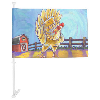 Chicken Gifts & Accessories Car Flag