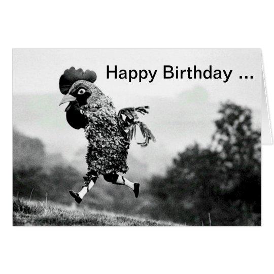 Chicken Head Birthday Card