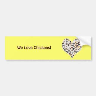 Chicken Heart Bumper Sticker
