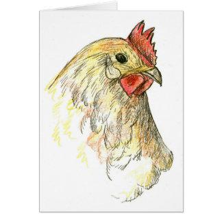 Chicken Hen Farm Animal Thank You Note Card