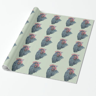 Chicken Hen Farmyard Bird Watercolor Painting Wrapping Paper