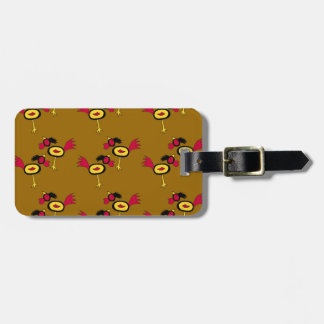 chicken hop luggage tag