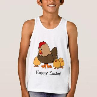 Chicken illustration custom text clothing tank top