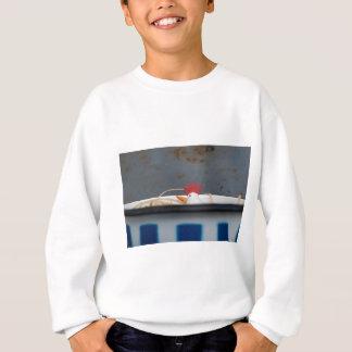 Chicken in a checkered bowl sweatshirt