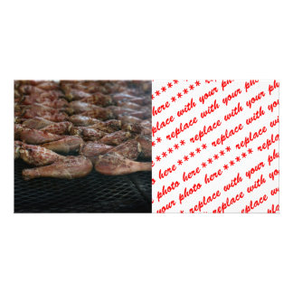 Chicken Legs on the Grill Personalized Photo Card