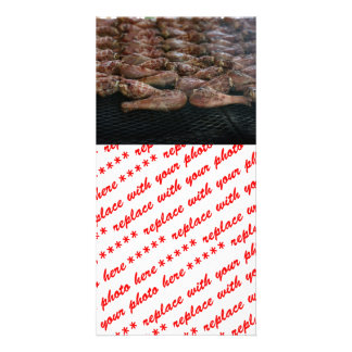 Chicken Legs on the Grill Photo Greeting Card