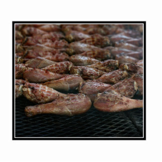 Chicken Legs on the Grill Photo Sculpture