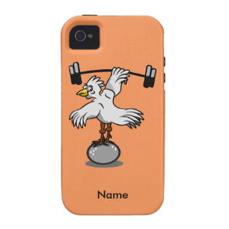 Chicken lifting weights iPhone 4 cover