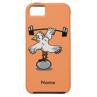 Chicken lifting weights tough iPhone 5 case
