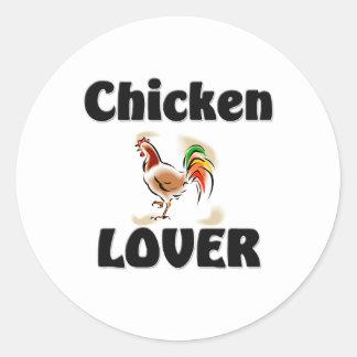 Chicken Lover Round Stickers