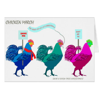 Chicken March Greeting Card