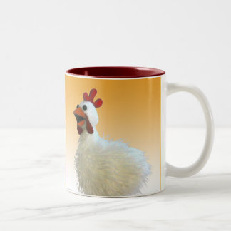 Chicken Mug, Cluck, Cluck, Cluck! Two-Tone Coffee Mug