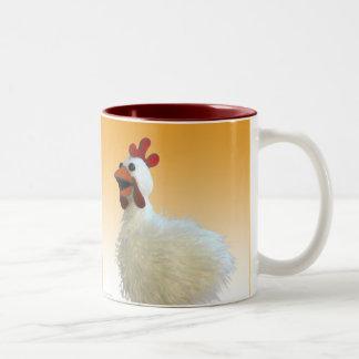 Chicken Mug, Cluck, Cluck, Cluck! Two-Tone Mug