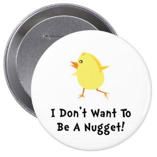 Chicken Nugget 10 Cm Round Badge