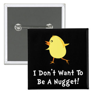 Chicken Nugget 15 Cm Square Badge