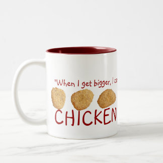"""Chicken Nuggets"" Two-Tone Mug"