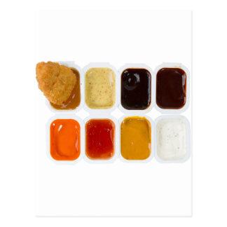 chicken nuggets postcard